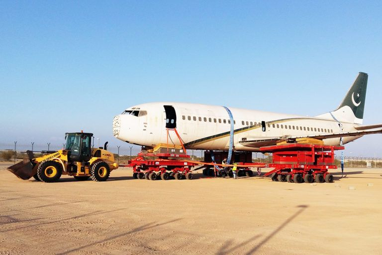 recovery trailer system, transport, collapsed landing gear, recovery, wing transition, fuselage transition, bolster, kunz, ams, resqtec
