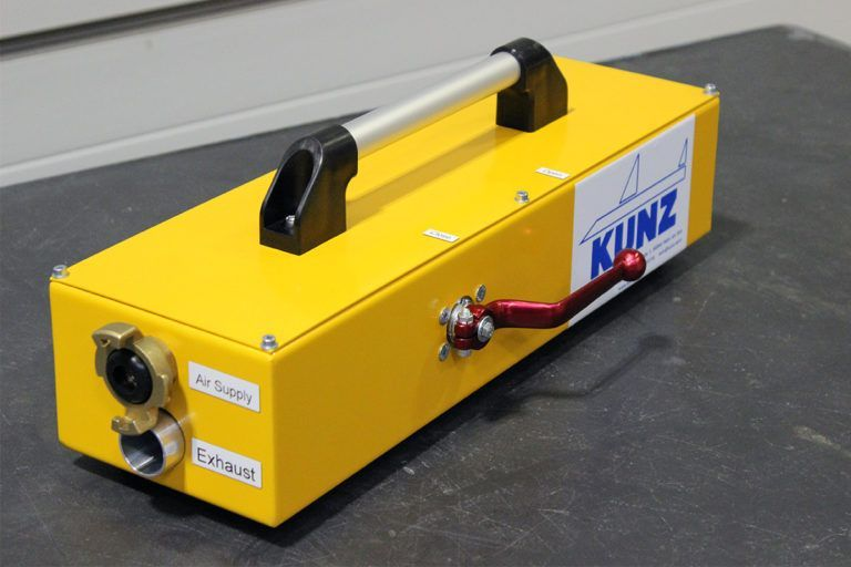 recovery, hose, pneumatic controller, inflation, ejector, deflation, KUNZ, AMS, ResQtec, RLB