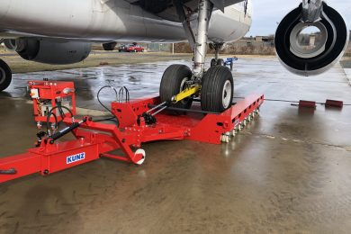 dolly, recovery, flat tire, blocked brake, aircraft
