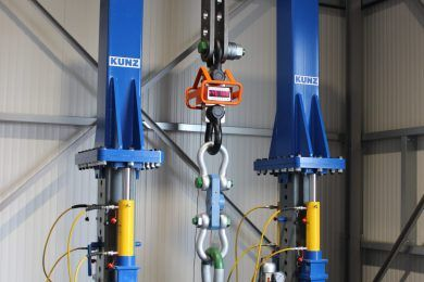load cell,tensionmeter,kunz,recovery,aets,lifting slings,pulley,service,calibration